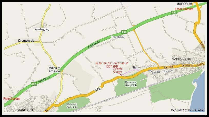 Cotside Quarry directions.Enter our postcode in your SatNav.